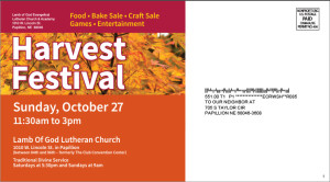 Lamb of God Harvest Festival Marketing Campaign Postcard, Back