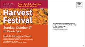 Lamb of God Harvest Festival Marketing Campaign Postcard, Back