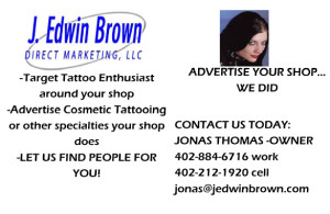 Targeted mailing list example for Tattoo Enthusiast